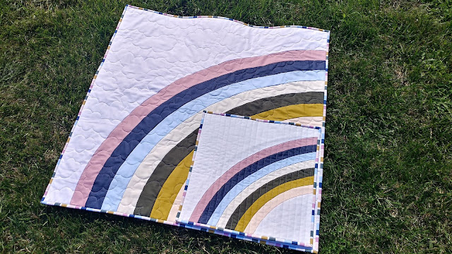 Bundle of Joy rainbow baby and NICU quilts by Slice of Pi Quilts