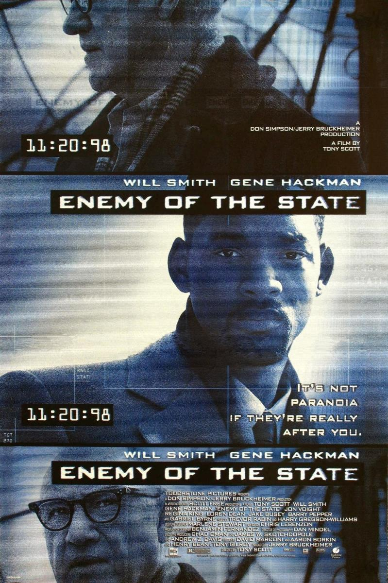 Download Enemy of the State (1998) Full Movie in Hindi Dual Audio BluRay 720p [1GB]