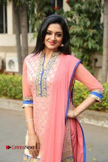 Actress Vimala Raman Stills in Beautiful Pink Salwar Kameez at (ONV) Om Namo Venkatesaya Press Meet  0151.JPG