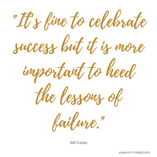 """Quote - """"It's fine to celebrate success but it is more important to heed the lessons of failure."""" -Bill Gates"""