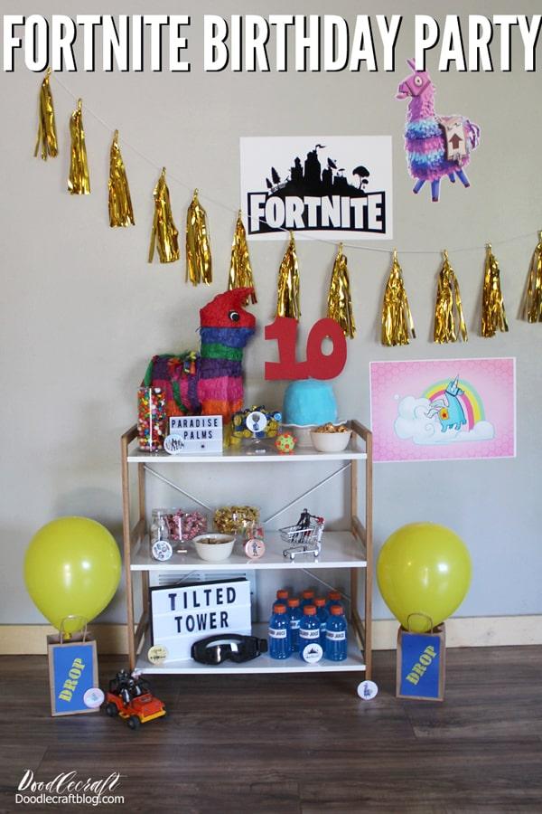 Fortnite Themed Birthday Party Ideas Diy