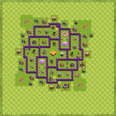 War Base Town Hall Level 7 By Ajmal Jalalzai (anti dragon Layout)