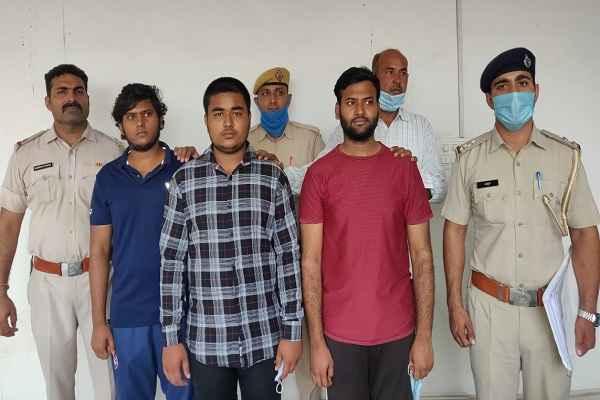 faridabad-thana-sector-58-arrested-three-accused