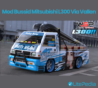 Mod Bussid Mitsubishi L300 Via Vallen Bonus Livery Gratis