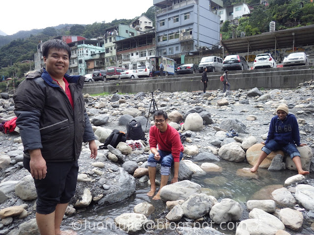 Wulai hot spring river
