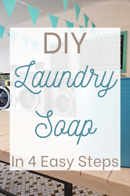 Simple laundry soap recipe with 3 ingredients