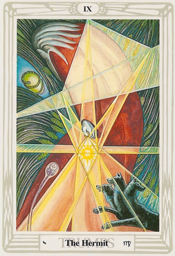 Hermetic Light Magick of Thelema Blog: Tarot Atu The Hermit IX
