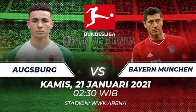 Prediksi Augsburg vs Bayern Munich, Kamis 21 Januari 2021 Pukul 03.30 WIB @MOLA TV
