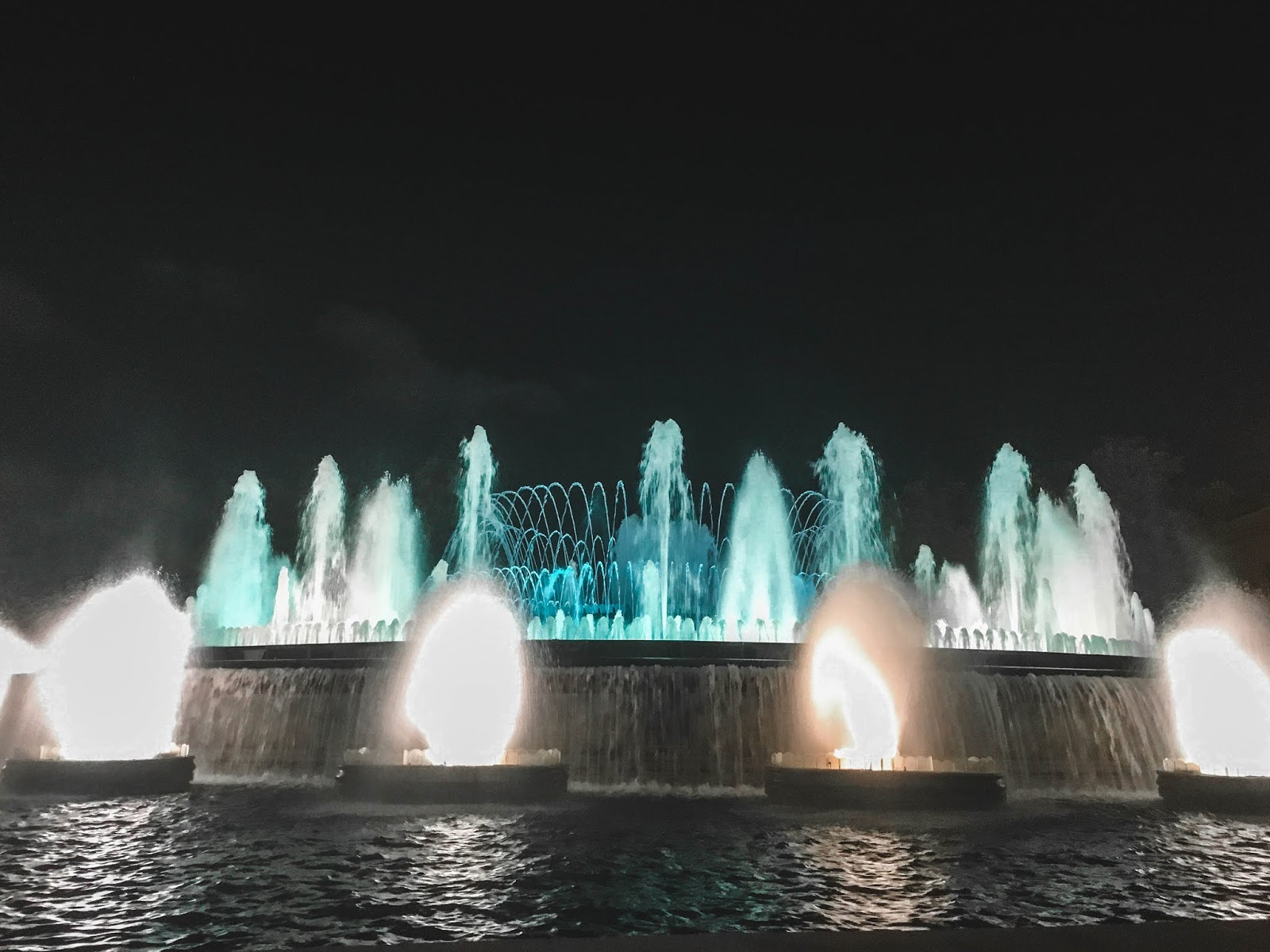 Magic Fountains of MontJuic Barcelona Spain