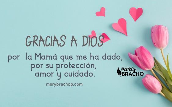 linda poesia agradecimiento a Dios por mama madre tarjeta dia madre
