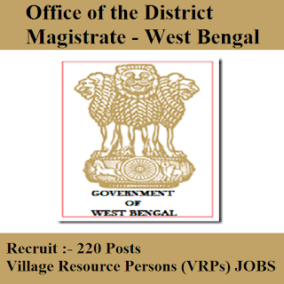 Office of the District Magistrate, West Bengal, Govt. of West Bengal, 10th, freejobalert, Sarkari Naukri, Latest Jobs, Village Resource Person, district magistrate wb logo