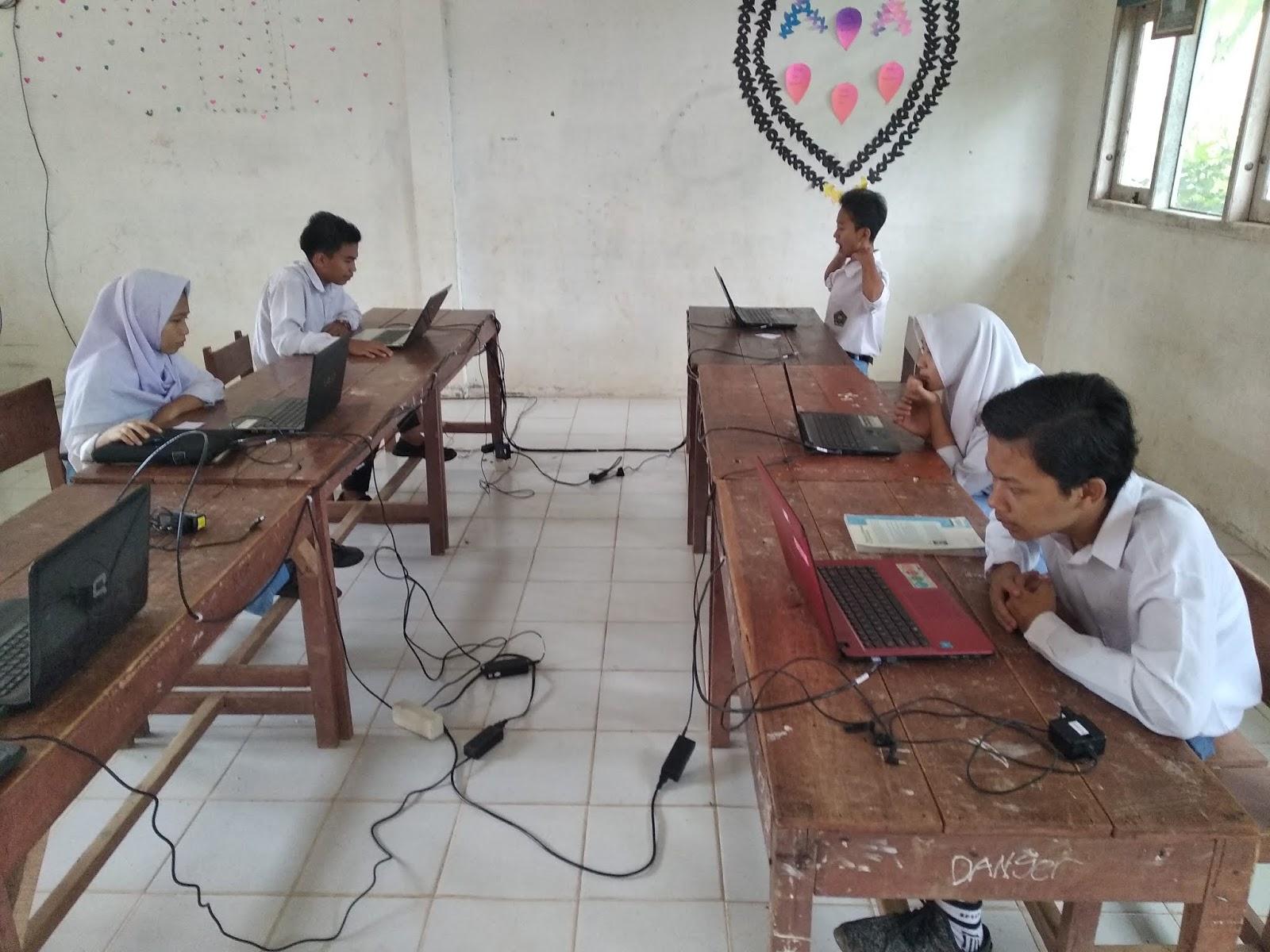 Secara Mandiri MTs Nurul Huda Rohul Gelar Simulasi UNBK 2019 Periode 2