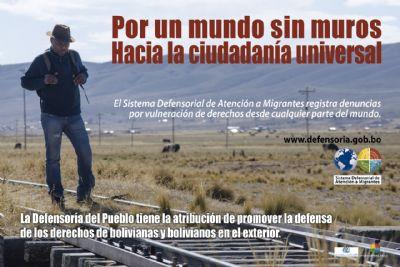 Defensor se encuentra en Buenos Aires atendiendo a residentes bolivianos