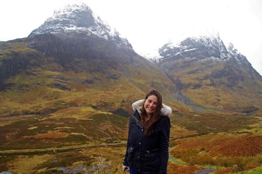 Girl in Glencoe Scotland