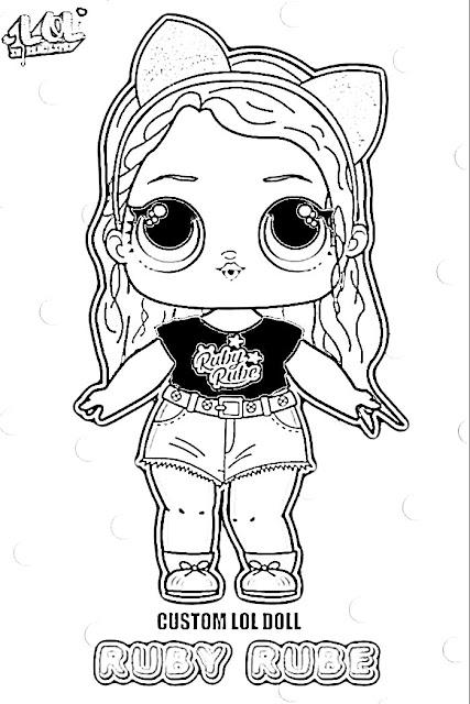 belajar menggambar dan mewarnai gambar LOL surprise hitam putih 5