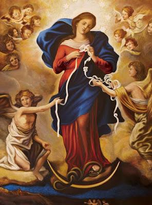 Nossa Senhora Desatadora dos Nós, pintura de Johann Schmitdner