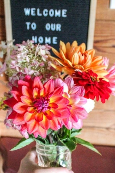 fresh flowers in our home | On The Creek Blog // www.onthecreekblog.com
