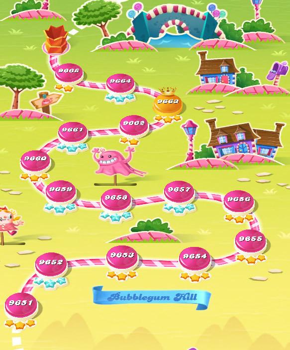 Candy Crush Saga level 9651-9665