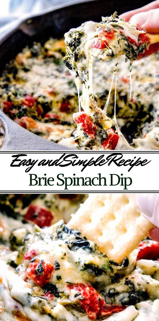 Brie Spinach Dip #vegan #vegetarian #soup #breakfast #lunch