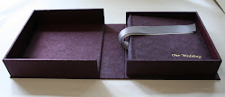 crushed tsarina silk wedding album and box