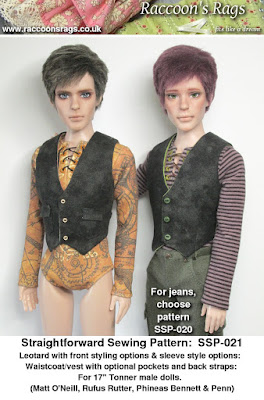 tonner 17 inch male dolls sewing pattern