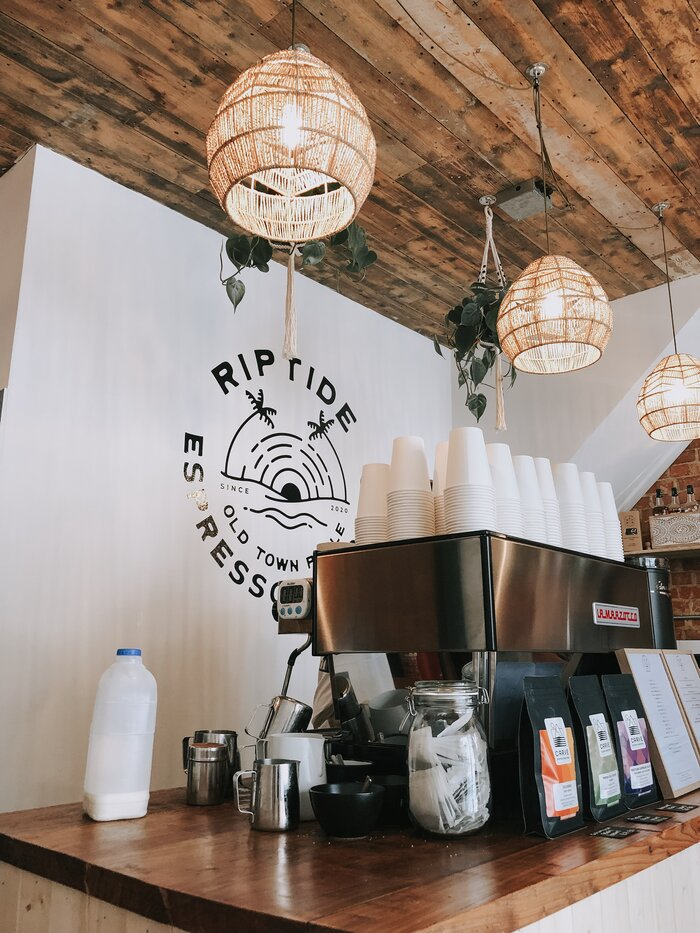 Coffee at Riptide Espresso & Records, Poole