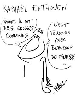 Raphaël Enthoven Dessin de presse Claude Marc humour