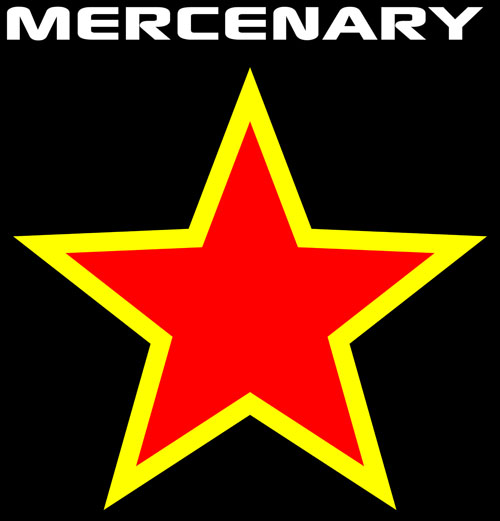 The Mercenary Red Star T-Shirt - Available from the Mercenary Garage Merchandise Store - https://mercenary-garage.myshopify.com/
