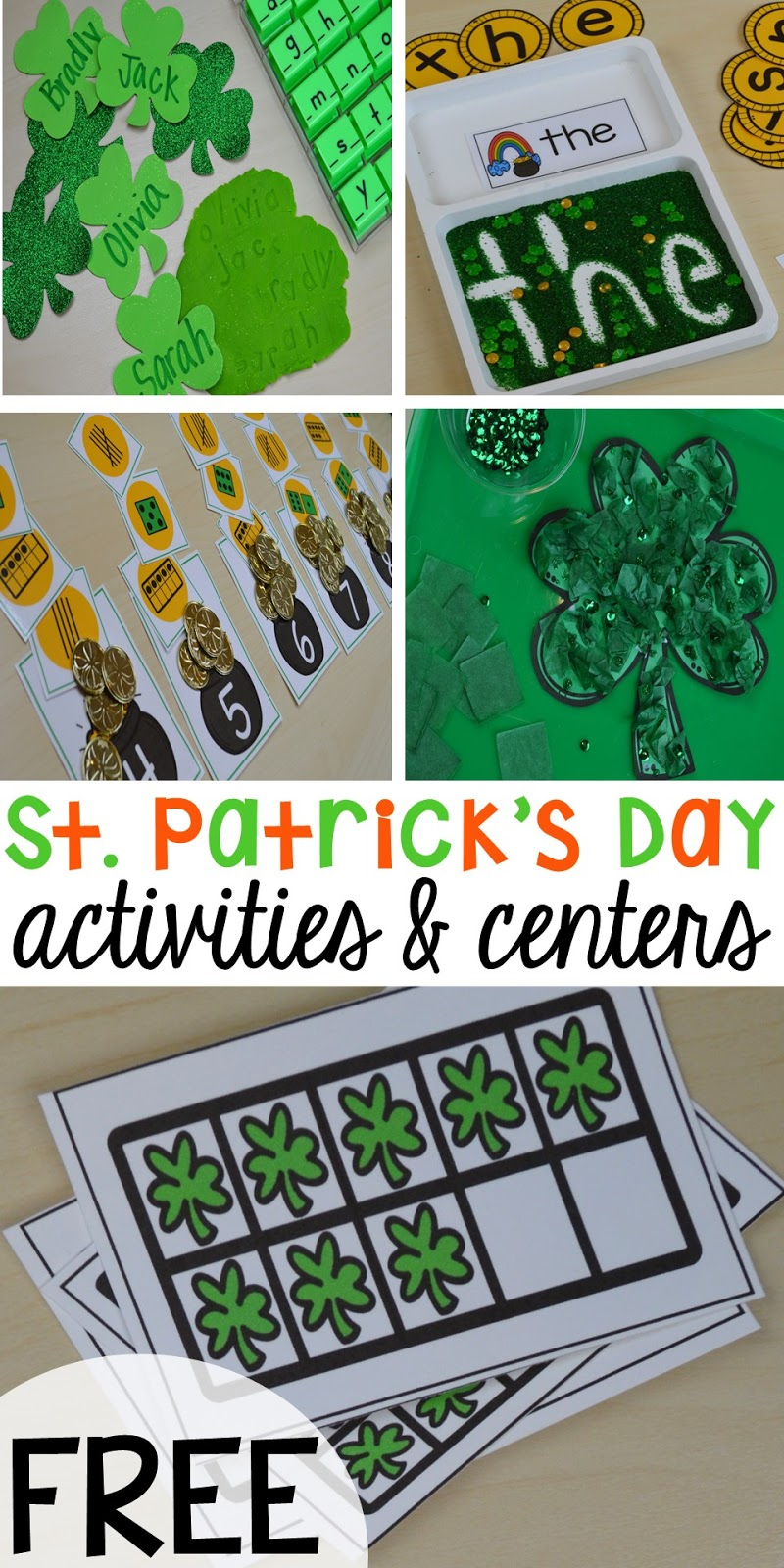 St. Patrick\'s Day Centers and Activities - Pocket of Preschool