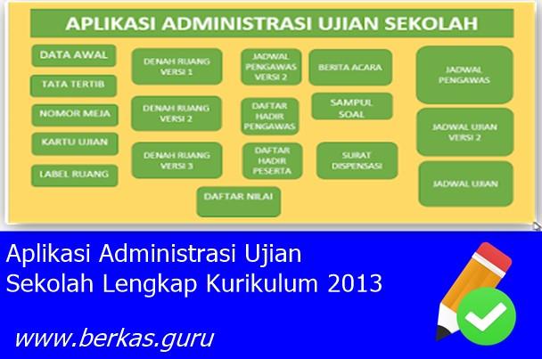 Aplikasi Administrasi Ujian Sekolah Lengkap Kurikulum 2013