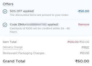 Zomato free food 2021 offer