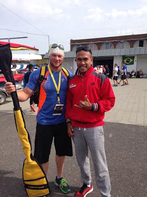 Atlet dayung Sulsel, Anwar Tarra (kanan) www.masmedia.xyz