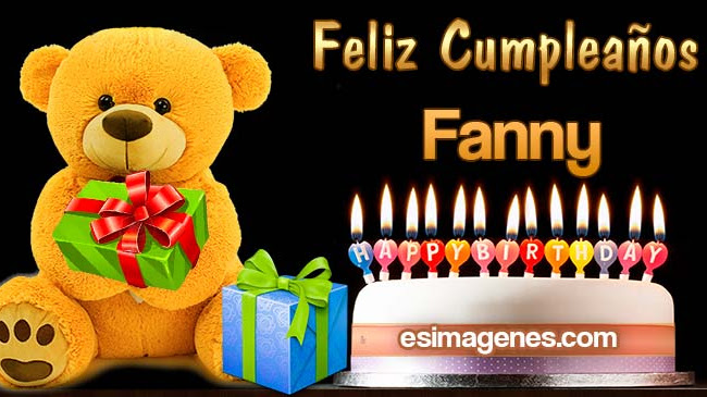 Feliz cumpleaños Fanny