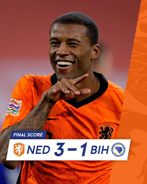 هولندا تحقق فوزاً مثيراً على البوسنة في دوري الأمم الأوروبية