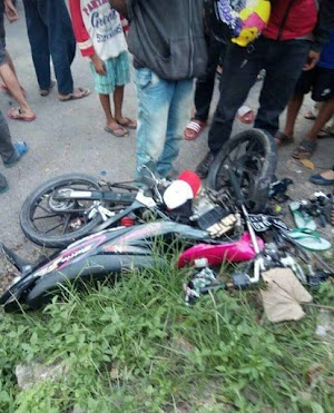 Innalillahi, Sepeda Motor dan Bis Tabrakan di Ciminyak Menelan Korban Jiwa