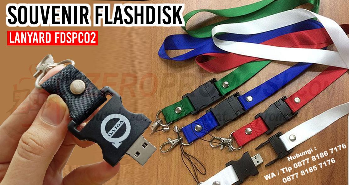 Jual Souvenir Flashdisk Lanyard FDSPC02, Usb Stopper, Barang promosi flashdisk stopper Fdspc02