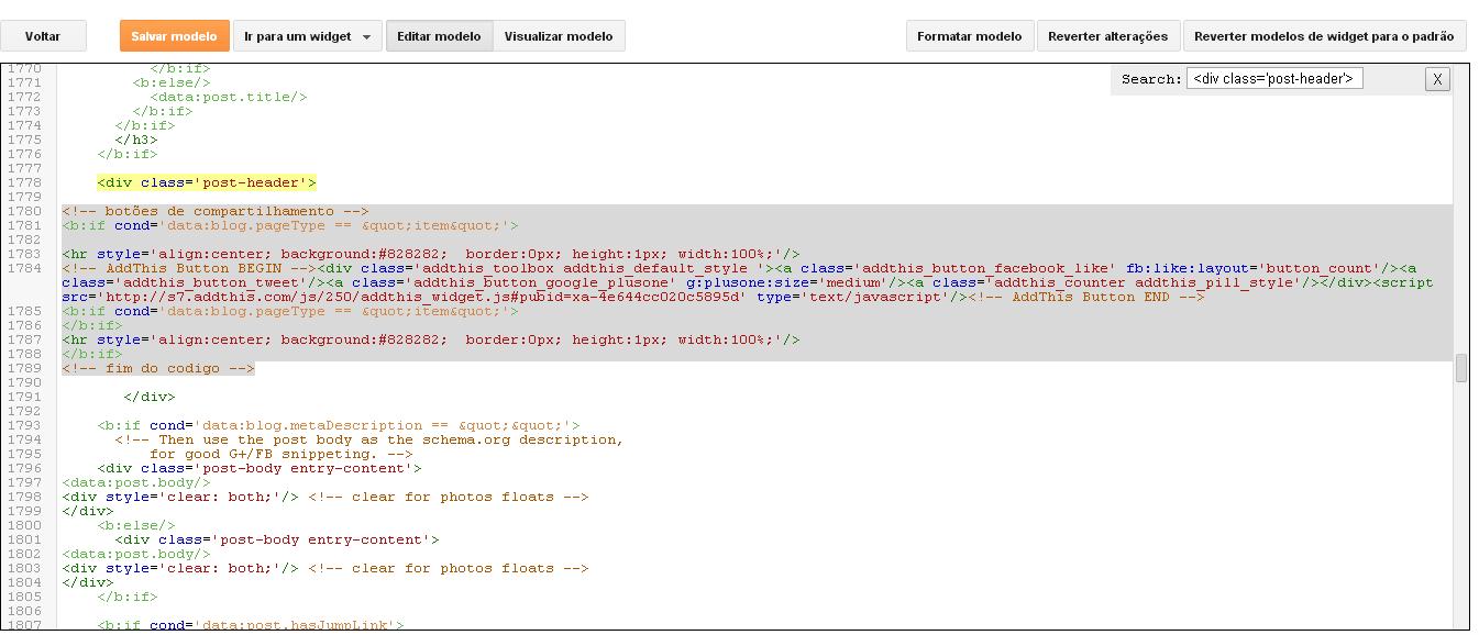 Clique na imagem para ampliar e ver onde colar o código.