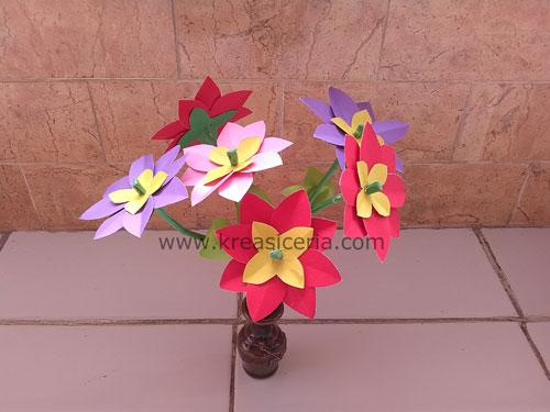 Cara Membuat Prakarya Bunga Dari Kertas Untuk Anak Sd