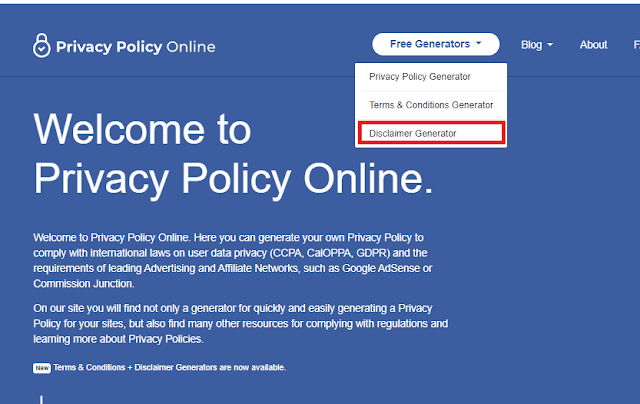 membuat halaman About, Contact, Privacy Policy, Disclaimer
