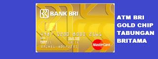 Gambar Kartu ATM BRI Gold BRITAMA