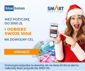 BlueBonus IV: Darmowa Smart Pożyczka z premią 100 zł
