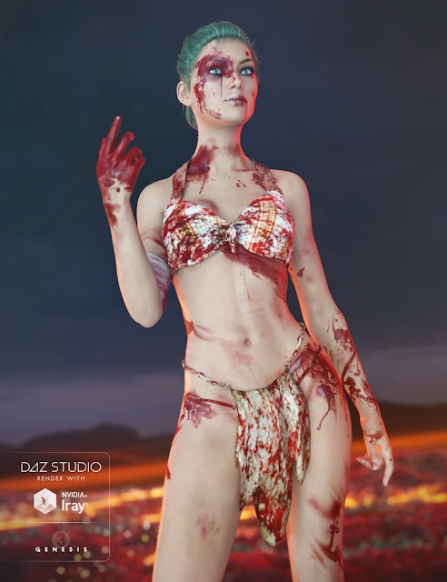 Additional Blood Layers for Genesis 3 Female