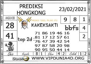 Prediksi Togel HONGKONG DUNIA4D 23 FEBRUARI 2021