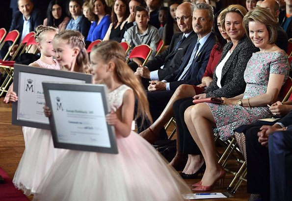 Queen Mathilde attended 2018 Queen Mathilde Award ceremony. Queen Mathilde Foundation selected projects that are in connection with music