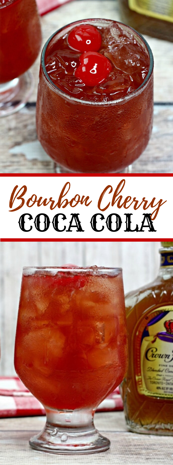 BOURBON CHERRY COKE #drinks #cocktails