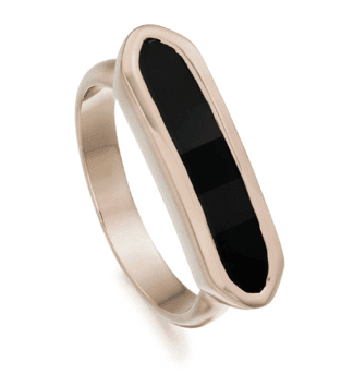Monica Vinader Gemstone Ring Black Onyx
