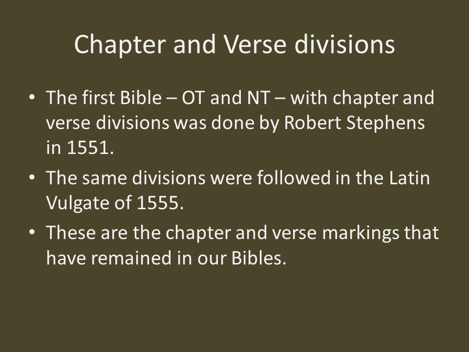 chapters of the bible essay Save essay view my saved essays downloads: 34 upon close examination of the chapters of genesis in the revised standard version of the bible, there are two versions of a flood story derived from the bible, genesis tells the story of how a supreme being named god created the.