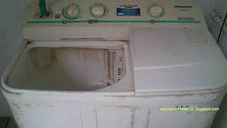 mesin cuci 2 tabung tidak bisa membuang air