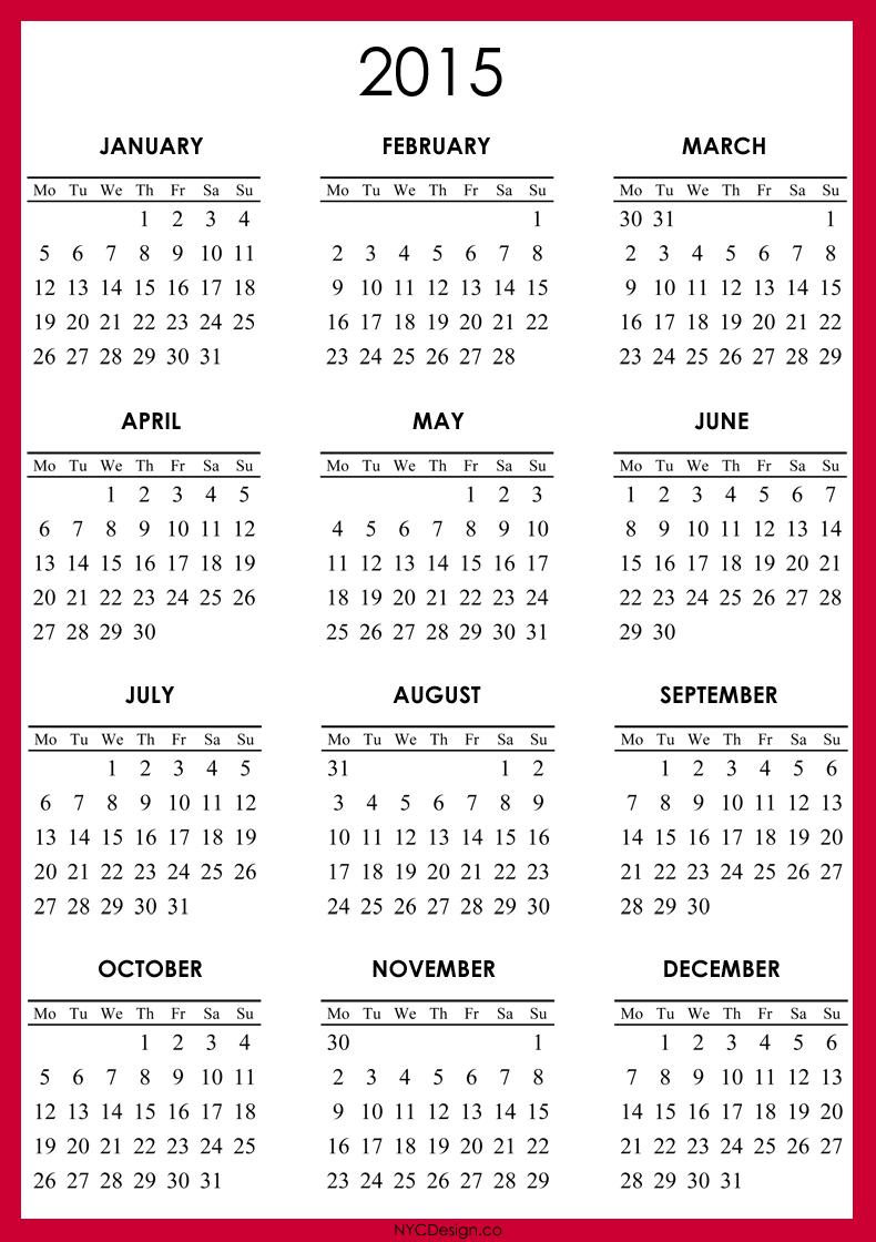 Free Printable Vertical Calendars 2013 Printable 2013 Calendar New York Web Design Studio New York Ny 2015 Calendar