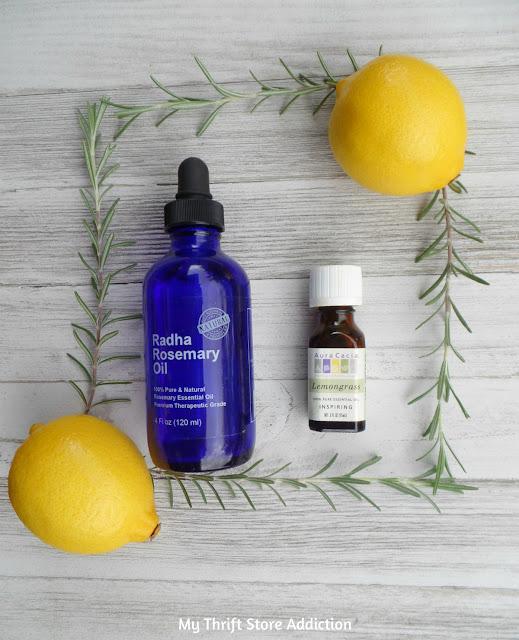 15 minute rosemary lemongrass essential oil cleaner